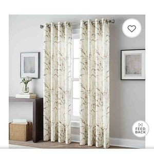 """Peri Home Accents - NWT Botanical Print 84""""Grommet Top Window Curtain"""